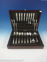 Inaugural By State House Sterling Silver Flatware Set For 8 Service 48 Pieces