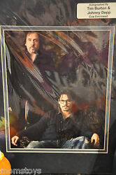 Le Tim Burton And Johnny Depp Photo Signed By Both And Authenticated