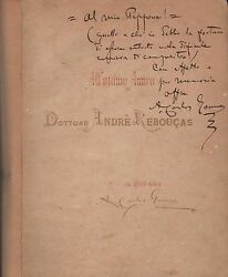 A. Carlos Gomes 1836-1896 Orig Handsigned Music Score Of Salvatore Rosa 1890and039s