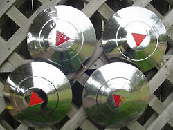 50 54 Hudson Commodore Super Wasp Pacemaker Hubcaps Wheel Covers Center Caps