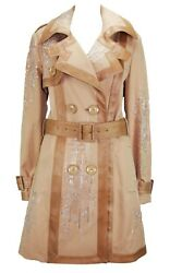 New Christian Dior Embellished Trench Coat With Snake Skin Trim 40 - Us 8