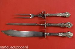 Hampshire By Durgin Sterling Silver Roast Carving Set 3pc Hhws