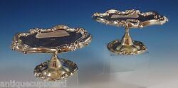 Howard And Co. Sterling Silver Compote Pair Raised Heavy S889 0837