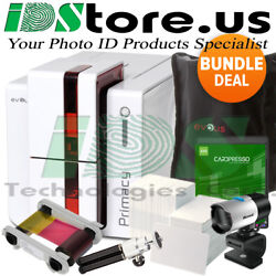 Evolis Primacy Dual Side Expert Fire Red Complete Photo Id Card Printer System