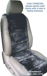 Sheepskin Seat Covers 2 Charcoal Seat Vest Inserts Super Plush Finest Quality Andcopy
