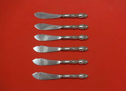 Lucerne By Wallace Sterling Silver Trout Knife Set 6pc. Hhws Custom 7 1/2