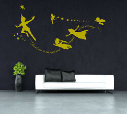 Tinkerbel Peter Pan Second Star To The Right Wall Sticker Uk Sh200