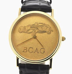 Rare Gold Collectible Menand039s Bcag Race Car Watch-s