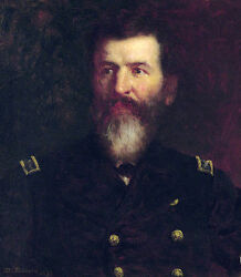 Oil Eastman Johnson's Portrait Of His Brother Commodore Philip Carrigan Johnson
