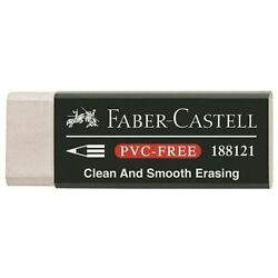 3 New Units Of Faber-castell Plastic Pencil Eraser - Pvc Free
