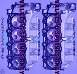 2 Dodge Jeep Cherokee 4.7 Sohc Cylinder Heads Valveandspring Only No Core