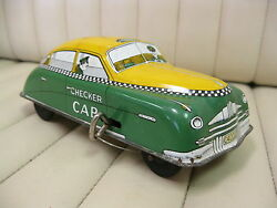 1950s courtland tin wind up car checker