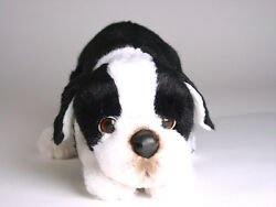 Boston Terrier Puppy by Piutre Hand Made in Italy Plush Stuffed Animal NWT