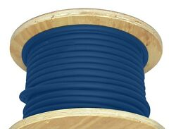 1000' 1 Awg Welding Cable Copper Flexible Battery Wire Blue 600v