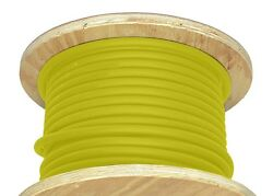 1000and039 2/0 Gauge Welding Cable Yellow Alterable Portable Wire Usa