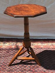 Important William And Mary Early 18th Century Antique Candlestand Rare