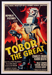 Tobor The Great Robot Science Fiction 1954 1-sheet