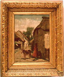 Magnificent 19 C Oil On Canvas Painting By Arthur Potter English Listed Artist