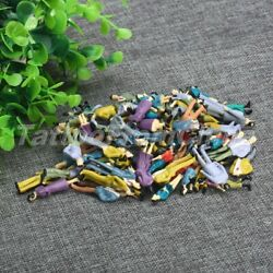 100pcs O Scale Color Painted People Figures Passenegers Pose Model Train Scenery