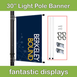 30 Street Pole Banner Mounting Kit For Hemmed Street Banners With Pole Pockets