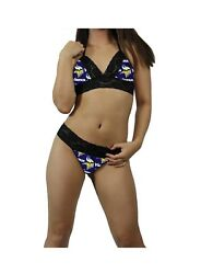 Sexy Minnesota Vikings Nfl Lingerie Lace Cami Tie Top G-string Custom Sizing