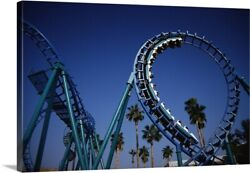 Roller Coaster At Knottand039s Berry Farm Canvas Wall Art Print Los Angeles Home