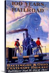 100 Years Railroad, Baltimore And Ohio, Canvas Wall Art Print, Baltimore Home