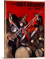 Billy Arnold Jazz Band, Vintage Poster, Canvas Wall Art Print, Jazz Home Decor