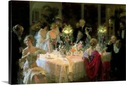 The End Of Dinner 1913 Canvas Wall Art Print Home Decor