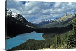 Lake And Mountains In The Canadian Canvas Wall Art Print, Photography Home Decor