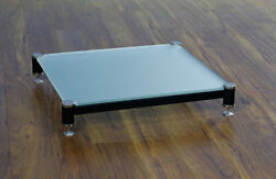 Beautiful Vti Blg404sf-01 Audio Frosted Glass Amp Stand, Brand New