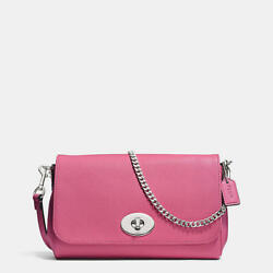 NWT New COACH Mini Ruby Crossbody Messenger Clutch Convertible F34604 Sunset Red $109.99