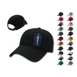 1 Dozen Decky Washed Cotton Polo Low Crown 6 Panel Dad Caps Hats Wholesale Lot