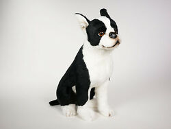Boston Terrier by Piutre Hand Made in Italy Plush Stuffed Animal NWT