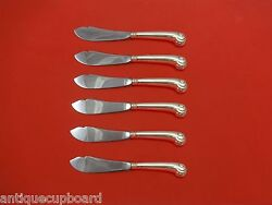 Onslow By Tuttle Sterling Silver Trout Knife Set 6pc. Hhws Custom Made 7 1/2