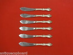 Queen Elizabeth I By Towle Sterling Trout Knife Set 6pc. Hhws Custom 7 1/2