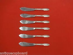 Robert Bruce By Graff W And D Sterling Silver Trout Knife Set 6pc. Custom 7 1/2