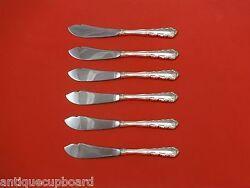 Shenandoah By Wallace Sterling Silver Trout Knife Set 6pc. Hhws Custom 7 1/2