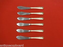 Spotswood By Gorham Sterling Silver Trout Knife Set 6pc Hhws Custom Made 7 1/2