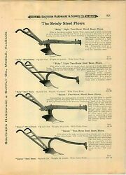 1910 Paper Ad 8 Pg Brinly Hardy Steel Farm Plows Two Horse Parts Repair List