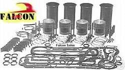 Fits Nissan Engine Kit Gas Hyster Yale Forklift A15 Pistons Gaskets Bearings