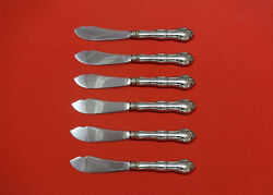 Old Atlanta By Wallace Sterling Silver Trout Knife Set 6pc. Hhws Custom 7 1/2
