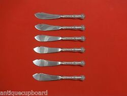 Charles Ii By Dominick And Haff Sterling Silver Trout Knife Set 6pc Custom