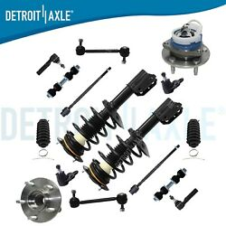 Complete 16pc Front Suspension Kit + Pair 2 Front Strut Assembly - Buick Chevy