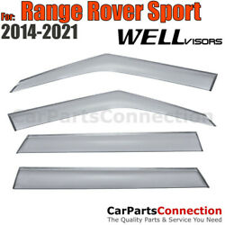 Wellvisors Window Visors 14-19 For Land Rover Range Rover Sport Deflectors