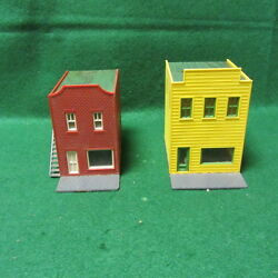 two ho scale oid west two story buildings