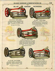 1932 Paper Ad 14 Pg Blue Grass Push Lawn Mower Coldwell Electric Horse Drawn