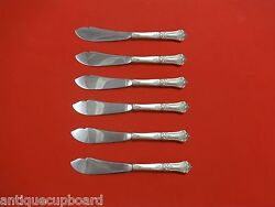 Stately By State House Sterling Silver Trout Knife Set 6pc. Hhws Custom 7 1/2