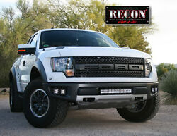 2010-2014 Ford F-150 SVT Raptor Recon White LED Driving Fog Light Lamp Kit