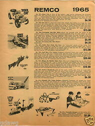 1965 Paper Ad 3 Pg Renco Toy Tiger Cat Tuff Boys Cape Kennedy Marx Big Boss Tow